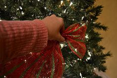 Kristen's Creations: Decorating A Christmas Tree With Mesh Ribbon Tutorial - excellent blog!!  Been wanting to try this stuff for a few years now, but was never sure how to us it........ now I think I do!