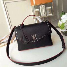 Louis Vuitton Calfskin Studs My Lockme Bag Black M53507 2018 9f8e2462cef21