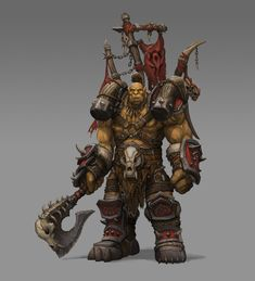 Commission: Kroggar by on DeviantArt Fantasy Figures, Fantasy Characters, Fantasy Art, World Of Warcraft Game, World Of Warcraft Characters, Game Character Design, Fantasy Character Design, Warcraft Orc, Dnd Elves