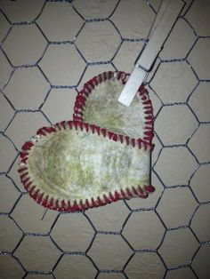 Baseball Heart...Baseball...Baseball decor...Love Baseball