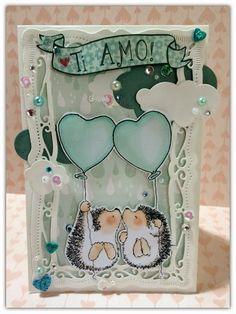 scrap stamping e fantasia: l'amore è nell'aria!!!!!