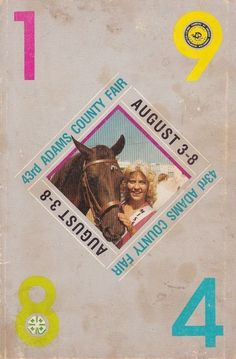 1984 43rd Adams County Fair Program Book Quincy IL Illinois Local Business Ads