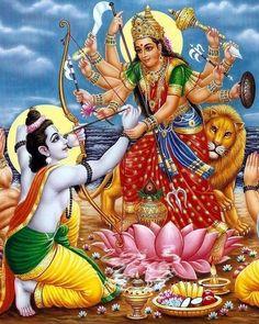 Navratri is the golden time of India. In this time all indian celebrate the worship of his god. Hanuman Images, Radha Krishna Images, Krishna Art, Durga Maa, Shiva Shakti, Lord Rama Images, Navratri Festival, Lord Hanuman Wallpapers, Lord Shiva Family