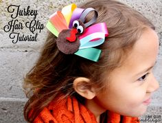 Turkey Hair Clip & Napkin Ring Tutorial | Rae Gun Ramblings