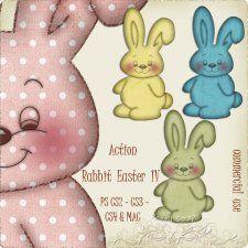 Action - Rabbit Easter IV by Rose.li #CUdigitals cudigitals.comcu commercialdigitalscrapscrapbookgraphics