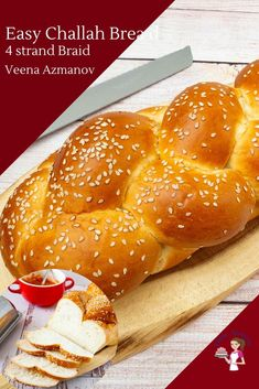 Challah bread recipe is a buttery, rich and absolutely beautiful braided loaf of bread. Today, I will teach you to make this four-braid challah in your own Challah Bread Recipes, Jewish Bread, Bagel Bread, Real Food Recipes, Cooking Recipes, Sicilian Recipes, Sicilian Food, Braided Bread, Amigurumi