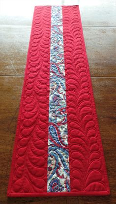 Americana Quilted Table Runner Patriotic Table Runner