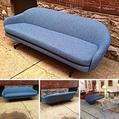 #Vintage #MidCenturyModern #Overman Style #Sofa With New Upholstery . Info @ link below.    Rocket Century  - St. Louis, MO