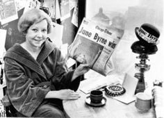 Chicago's first female mayor, Jane Byrne, upon her win, 1979.
