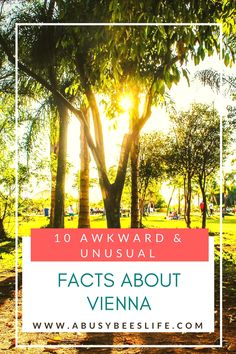 There is something awkward and unusual about every country and city. My home city Vienna is no exception! Check out these 10 awkward and unusual facts about Vienna. #4 and #10 are my favourites.  via @abusybeeslife