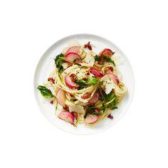 Sautéed Radish, Greens and Pancetta Pasta | RealSimple.com