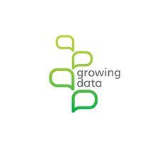 Growing Data Logo by Slavka Bozhinova, via Behance