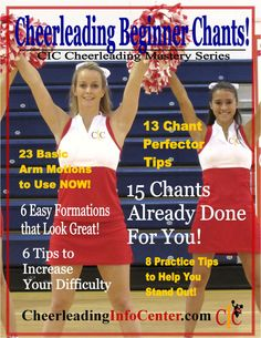 If you are looking for some Beginning Chants ALREADY CHOREOGRAPHED for you, need some easy ways to increase the difficulty in your current chants, or need some easy tips to perfect your skills, this ebook is for you! Check it out in our Esty Store - The Cheerleading Shop :-)