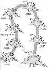PAPIROFLEXIA PARA TOD@S: TUOJIANGOSAURUS Diy And Crafts, Paper, Dinosaurs, Origami Diagrams