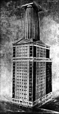 Entry to the Chicago Tribune Tower Competition | Mathew L. Freeman | 1922