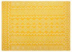 One Kings Lane - Color Crush - Solana Flat-Weave Rug, Marigold