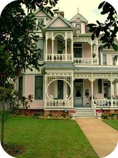 exterior, home, unique structure, original, victorian, old, pastel