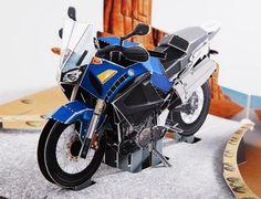 Yamaha XT 1200 Z Teneré 3D Pop Up Card - by Yamaha Motors  - == --  A cool 3D Pop Up Card of the motorcycle Yamaha XT 1200 Z Teneré, by Yamaha Motors website.