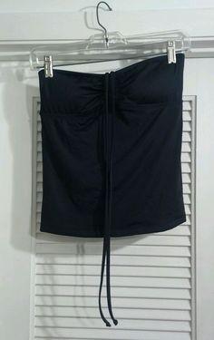 NWT Massimo Target Black Tankini Bathing Suit Top Size Small Padded #Mossimo #TankiniTop