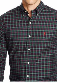 Polo Ralph Lauren plaid checked twill long sleeve shirt size small new with tags #PoloRalphLauren #ButtonFront