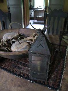 Early candle lantern...