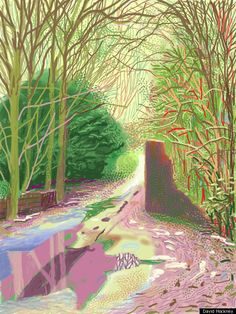 iPad Drawing - David Hockney - Brushes app.
