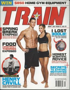 Train magazine Workouts Health and fitness Henry Cavill Motivation Food theories