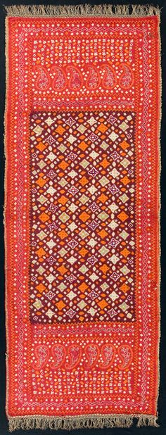 Shoulder Cloth (selendang pelangi), ca. 1900. Indonesia, South Sumatra, Palembang area.