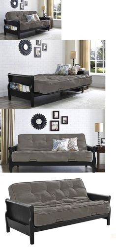 Futons Frames And Covers 131579: Modern Futon Sofa Bed Couch Full Size  Mattress Living Room Part 88