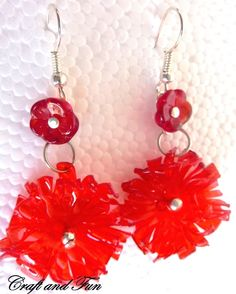 Tutorial earrings with recycled plastic bottle