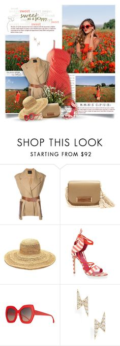 """""""Sweet As A Poppy"""" by thewondersoffashion ❤ liked on Polyvore featuring Erika Cavallini Semi-Couture, Hillier Bartley, Mar y Sol, Oscar Tiye, Alice + Olivia and EF Collection"""