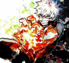 "Bakugou ""Kacchan"" Katsuki, cool, quirk; My Hero Academia"