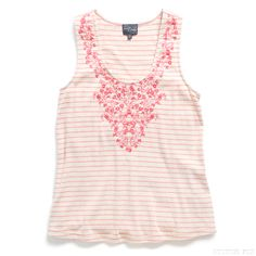 Stitch Fix Style | This Just In: Bianca Embroidery Detail Knit Tank