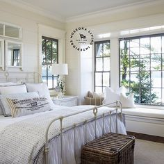 Are you looking for some farmhouse bedroom ideas to inspire you? There are many ways to incorporate farmhouse design in your house. As you probably have already known, farmhouse design can be applied to every part of the house, including . Farmhouse Style Bedrooms, French Country Bedrooms, Farmhouse Design, Farmhouse Decor, Modern Farmhouse, Farmhouse Ideas, Farmhouse Frames, Luxury Interior Design, Home Interior