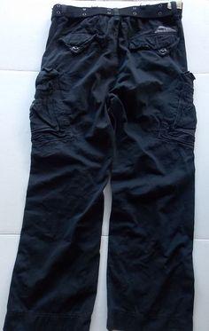 "Jet Lag Cargo Pants BEBO Mens Black Drawstring Pockets New Tags 40x32.5"" #JetLag #Cargo"