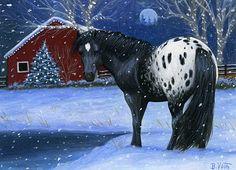 CHRISTMAS SNOW Christmas Horses, Christmas Animals, Horse Drawings, Animal Drawings, Christmas Scenes, Christmas Art, Horse Pictures, Animal Pictures, Horse Illustration