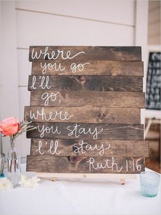 30 rustic wedding signs & ideas for weddings. [tps header] couples love adding fun rustic wedding signs to their wedding day decorations if you are looking for some inspiration or ideas on what t. Wedding Ideias, Deco Champetre, My New Room, Here Comes The Bride, Wooden Signs, Rustic Signs, Wooden Wedding Signs, Chalkboard Wedding Signs, Wooden Kitchen Signs