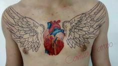 Tatuagem coração,  tatuagem de coração  realista,  tattoo heart