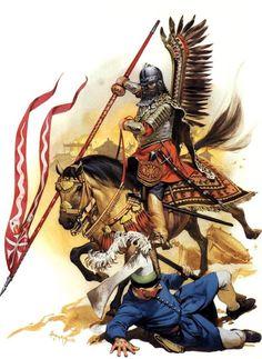 Polish Hussars spear Turkish warrior