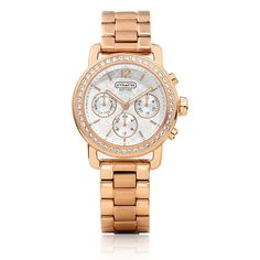Coach Legacy Sport Small Rose Gold Chronograph with Swarovski Crystals