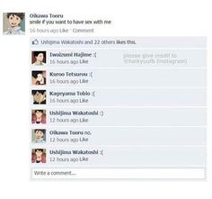 What the Fudge?! LOL || Haikyuu!! on Facebook