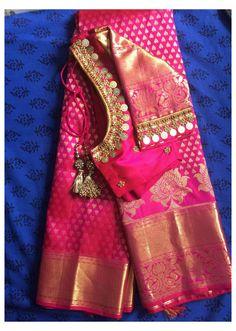 Wedding Saree Blouse Designs, Pattu Saree Blouse Designs, Simple Blouse Designs, Stylish Blouse Design, Blouse Designs Silk, Designer Blouse Patterns, Sari Bluse, Maggam Work Designs, Indiana