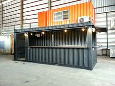 container cafe Container Bar, Shipping Container Restaurant, Container Coffee Shop, Shipping Container Buildings, Cargo Container, Container House Design, Shipping Container Homes, Kiosk Design, Cafe Design