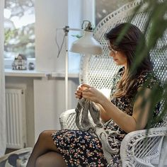 """""""I'm quite a homebody, and I find great joy making knits alone at home; after a…"""