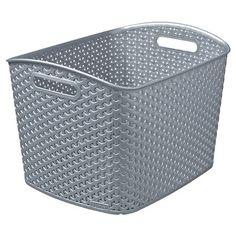 Y Weave Extra Large Storage Bin - Earth Gray - Room Essentials™ : Target