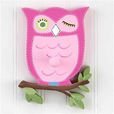 Brooke Owl Wall Peg or Decor Piece Without Peg (Pottery Barn Kids)