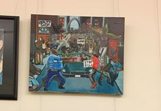 """""""I feel incredibly sad that the officers working nearby have to see this on the wall.""""  Painting hanging in our capital and it's disgusting.  I paint and should paint one of looting blacks and see how that goes..."""