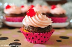 Cupcakes de Cereza