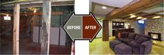 Old Homes Before and After   Finished Basement Company - Basement Remodel and Renovation