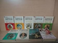 GEORGETTE HEYER - LOT OF 9 BOOKS - THE CONQUEROR, THE NONESUCH, FRIDAY'S CHILD +
